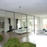 Schuifwand 8 meter spiegel zilver